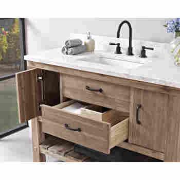 Fairmont Designs 1507 Vh48 Napa 48 Open Shelf Bathroom Vanity Qualitybath Com