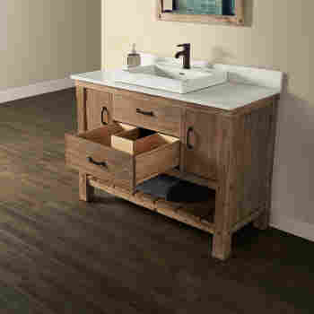 Fairmont Designs 1507 Vh48 Napa 48 Open Shelf Bathroom Vanity Qualitybath Com