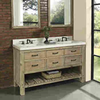 Fairmont Designs 1507 Vh6021d Napa 60 Open Shelf Bathroom Vanity Qualitybath Com