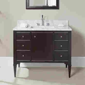 Fairmont Designs 1510-V42A Charlottesville Bathroom Vanity ... on fairmont design furniture collections, 1930 farmhouse style bathroom, fairmont designs vanity napa farmhouse, gray marble subway tile bathroom,