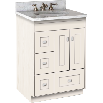 Peachy Montlake Vanity With Left Hand Drawers And Shaker Doors Download Free Architecture Designs Boapuretrmadebymaigaardcom