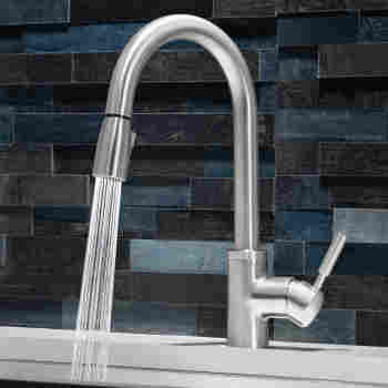 Sonoma Kitchen faucet with pull down spray