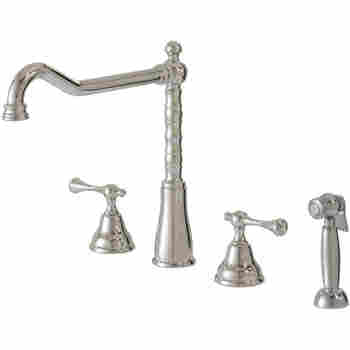 Texas Spray 4 Pc Dual Stream Mode Kitchen Faucet With Side Spray