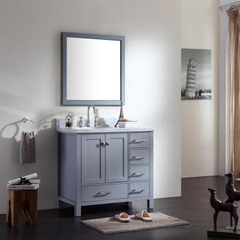 Ariel A037s Cambridge 36 Single Sink Bathroom Vanity Set With Offset Sink Qualitybath Com