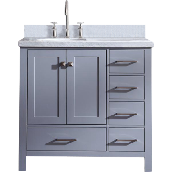 Ariel A037s Cambridge 36 Single Sink Bathroom Vanity Set With Offset Sink Qualitybath Com