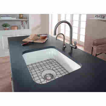 Franke Cck110 19wh Cisterna 21 1 2 Fireclay Undermount Kitchen Sink Qualitybath Com