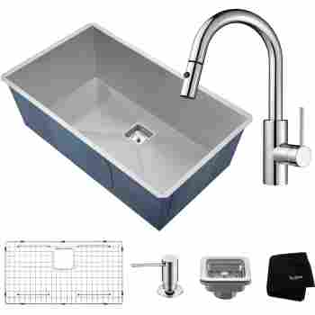 Kraus Khu32 2620 31 1 2 Kitchen Sink And Faucet Combo Qualitybath Com