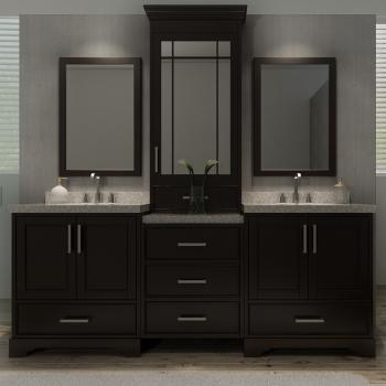 Ariel M085d Esp Stafford 84 Double Sink Bathroom Vanity Set Qualitybath Com
