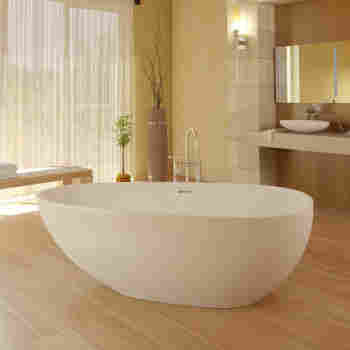 Americh RC2207-MW Roc Narita Solid Surface Freestanding Soaker Tub ...