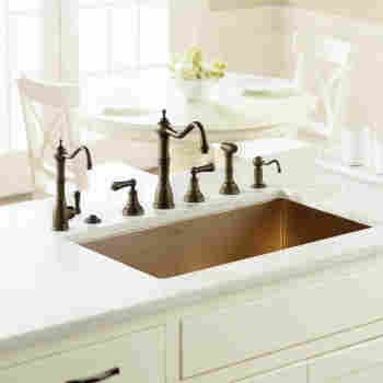 Edwardian 4-Hole Kitchen Faucet with Sidespray