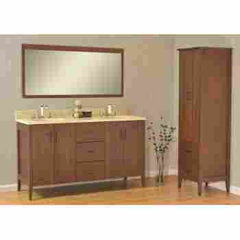 Strasser Woodenworks 56 106 Newhalem 60 Double Basin Vanity With Shaker Doors And Slab Drawers Qualitybath Com