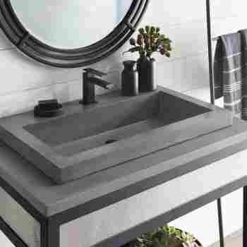 Native Trails Nsl3019 S Nativestone, Trough Sink For Bathroom