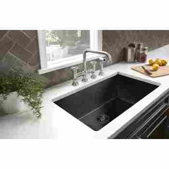 Rohl A3358 Campo Three Leg Bridge Kitchen Faucet With Sidespray