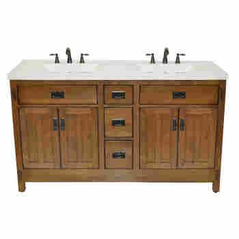 Sagehill Designs Ac6021dn New American Craftsman 60 Bathroom Vanity Qualitybath Com