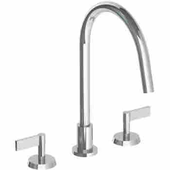 Watermark 37 7g Deck Mounted 3 Hole Gooseneck Kitchen Faucet Qualitybath Com