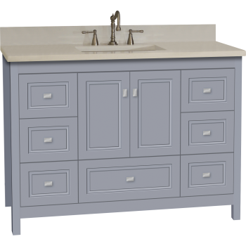 Strasser Woodenworks 52 272 Alki Essence 48 Bathroom Vanity With Ogee Miter Doors Qualitybath Com