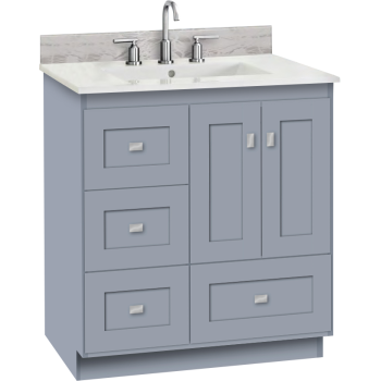 Strasser Woodenworks 23 237 Montlake 30 Vanity With Left Hand Drawers And Shaker Doors Qualitybath Com