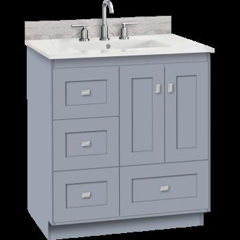 Strasser Woodenworks 23 567 Montlake 30 Vanity With Left Hand Drawers And Shaker Doors Qualitybath Com