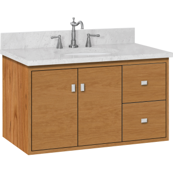 Strasser Woodenworks 20 560 Sodo 36 Vanity With Right Hand Drawers And Slab Doors Qualitybath Com