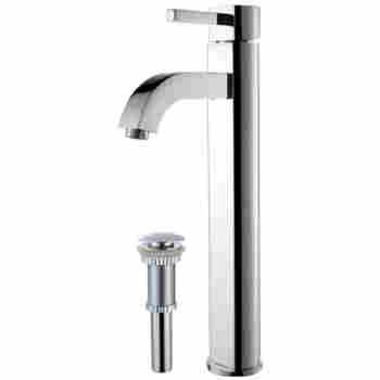 Kraus FVS-1007-PU-10 Ramus Vessel Bathroom Faucet With Matching Pop ...