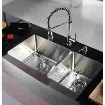 Commercial-Style Kitchen Faucet and Soap Dispenser