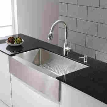 Kraus Khf200 36 Precision Series 35 7 8 Apron Kitchen Sink Qualitybath Com