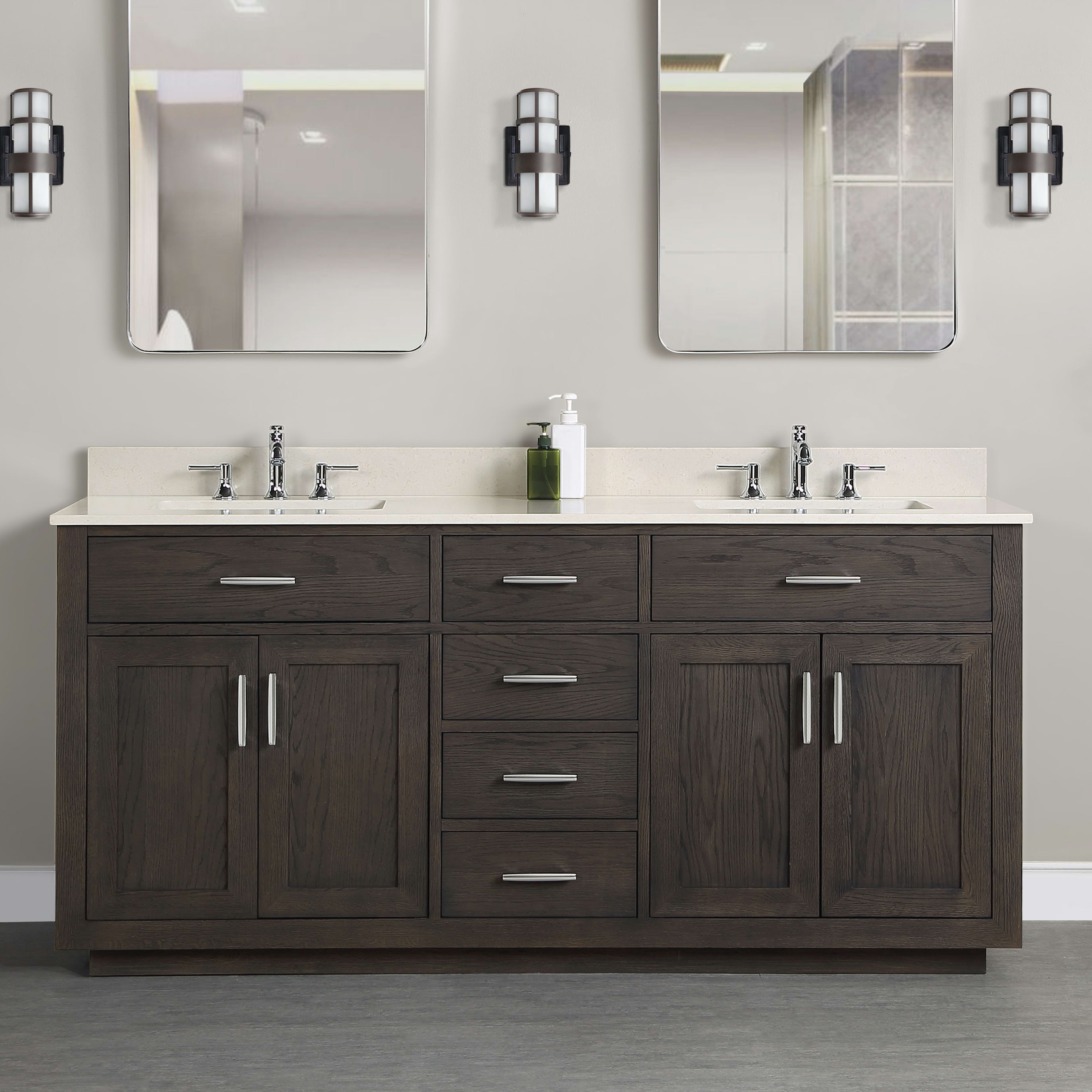 Fairmont Designs 1552 V7221d Brookings 72 Bathroom Vanity Qualitybath Com