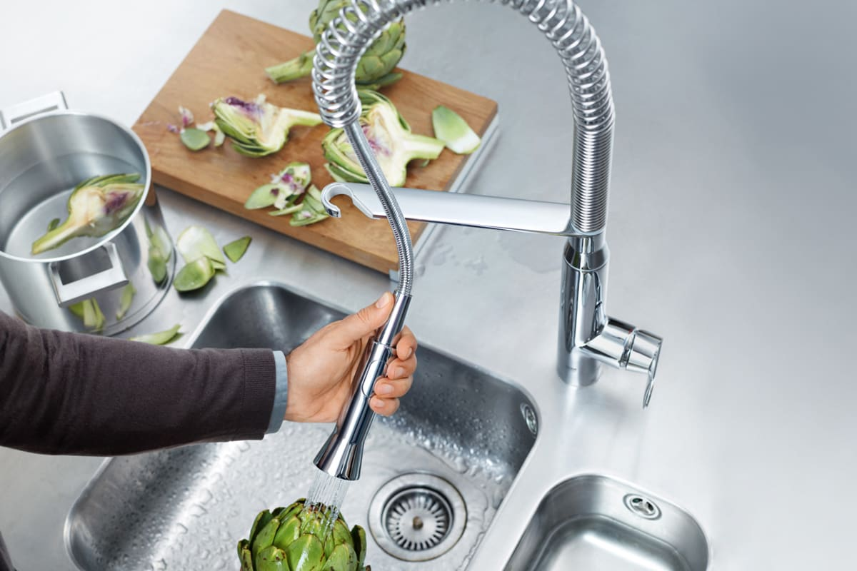 The Kitchen Faucet Pull Down Pull Out Or Side Spray
