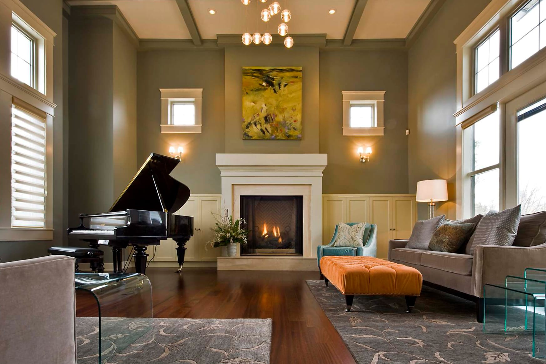 How to decorate around a piano