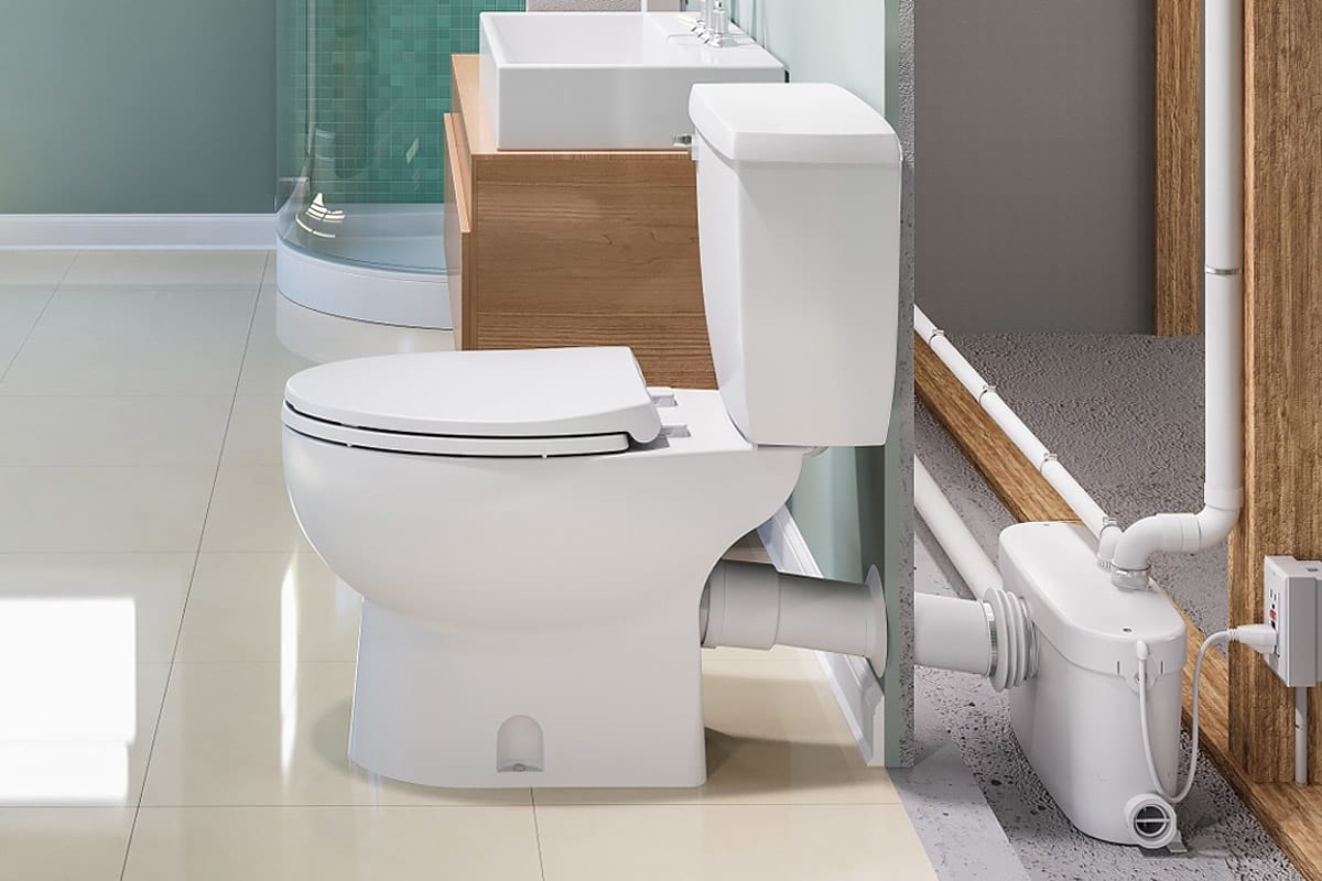 How Do Saniflo Up Flush Toilets Work? | QualityBath com Discover