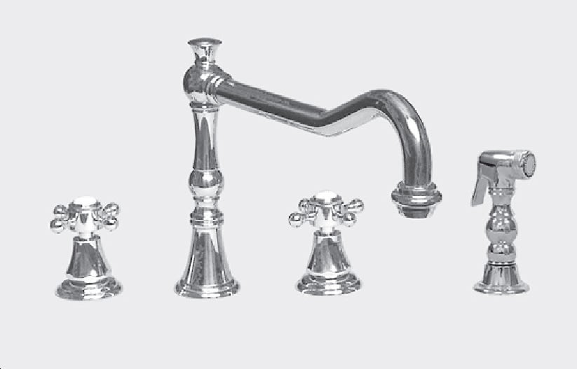 Sigma 1.3556012.36 Series 350 Widespread Kitchen Faucet With Metal ...