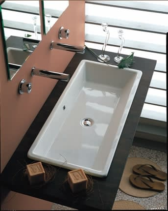 Scarabeo 803337 Gaia 80 Built In Or Supported Basin Qualitybath Com