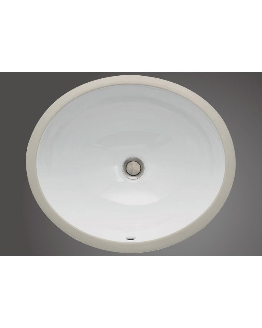 "Icera L-280.01 Vanity 17/"" x 14/"" Undermount Bath Sink White"
