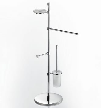 Ws Bath Collection Ranpin 5122 Ranpin Towel Stand With Straight Arm Soap Dish Toilet Roll Holder And Toilet Brush Holder Qualitybath Com