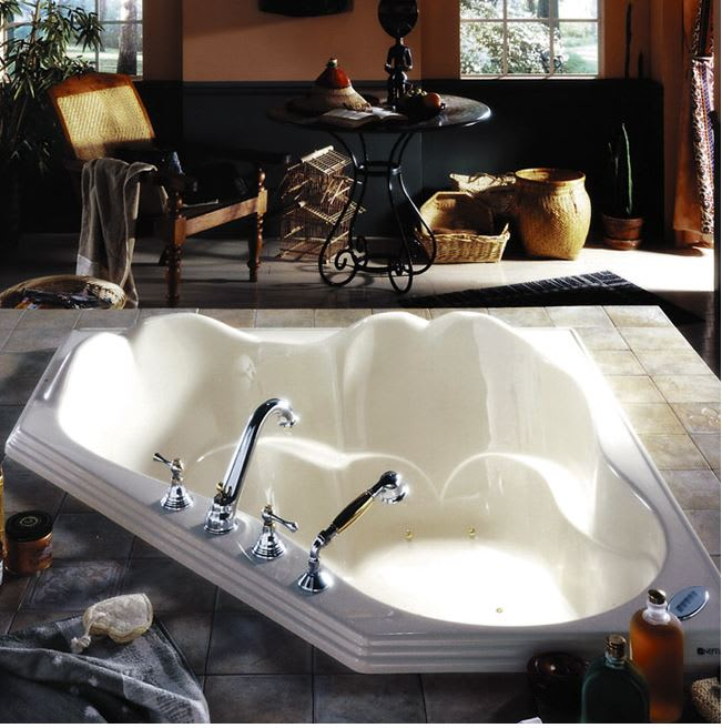Neptune Or54t Orphee Corner Whirlpool Tub Qualitybath Com