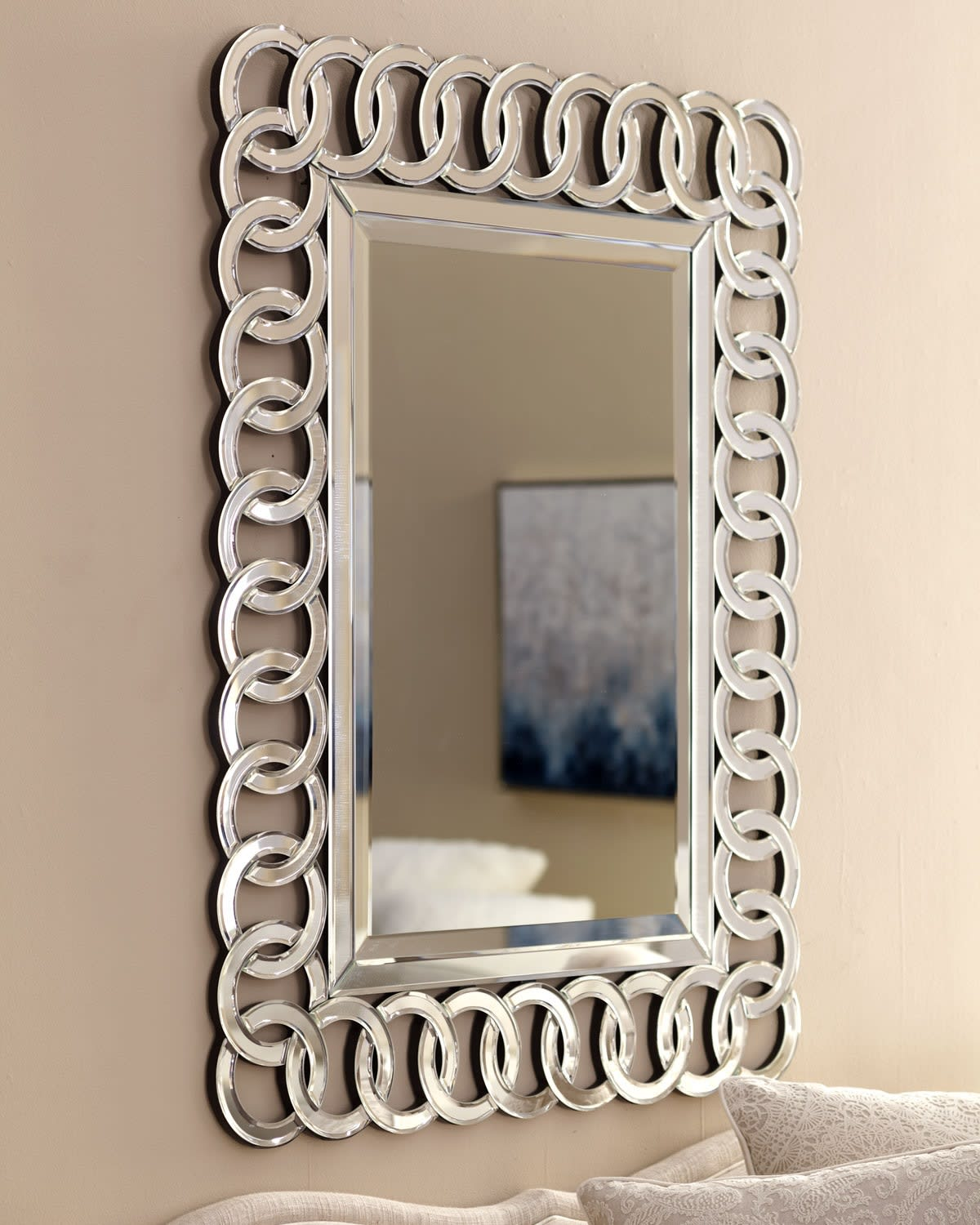 Afina Ml 3042 R Modern Luxe Contemporary Openwork Decorative Wall Mirror