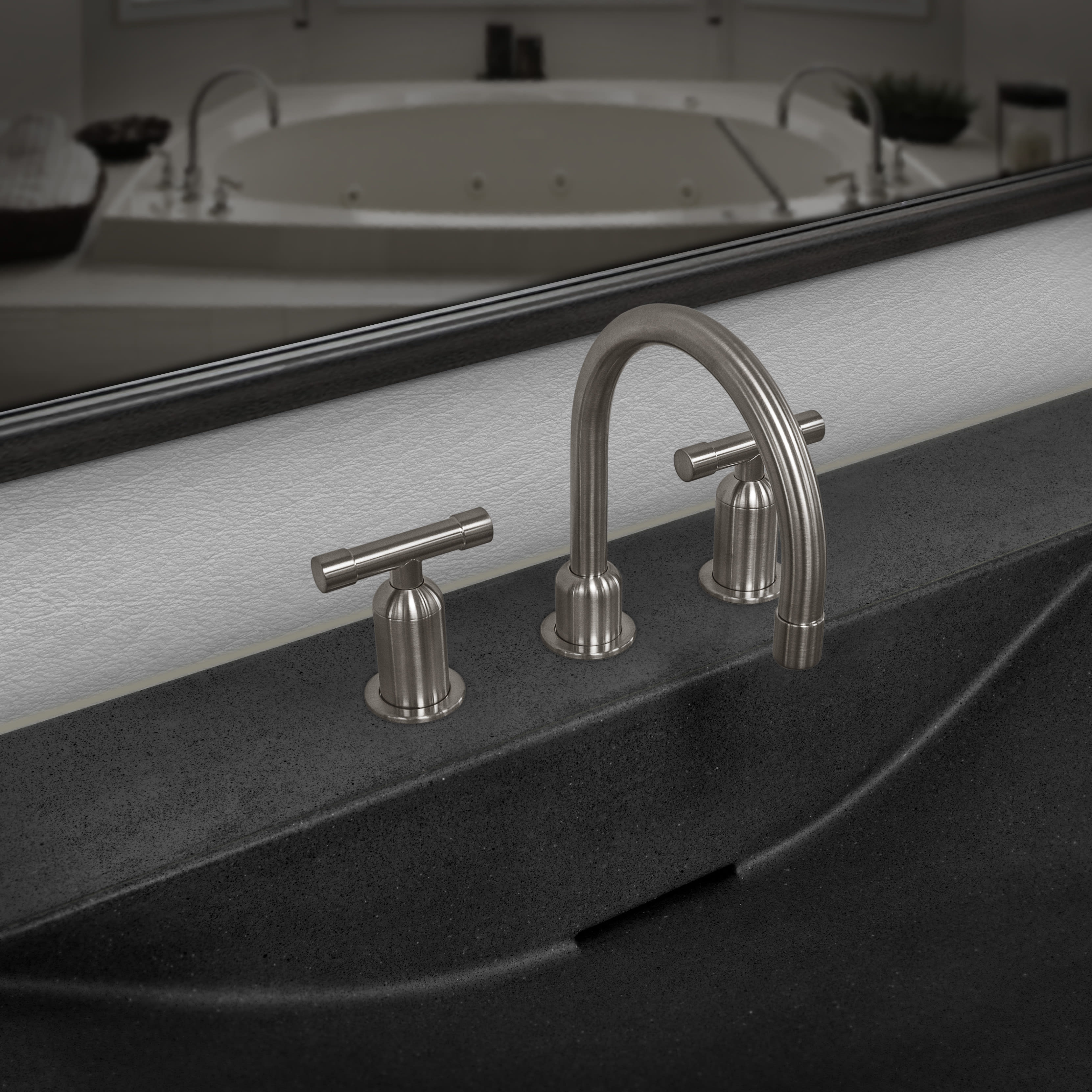 Sonoma Forge WE-LAV-DM-GN-RC Wherever Deck Mount Lav Faucet With ...