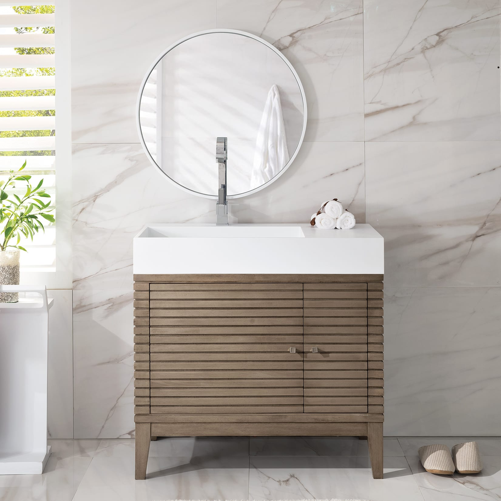 James Martin 210 V36 Linear 35 1 2 Bathroom Vanity Qualitybath Com