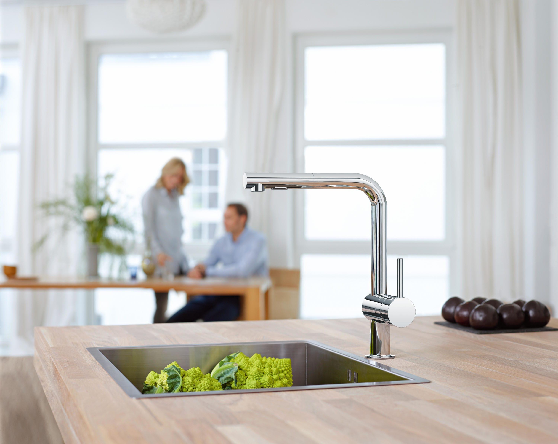 Grohe 30300 Minta Single Handle Kitchen Faucet Qualitybath Com