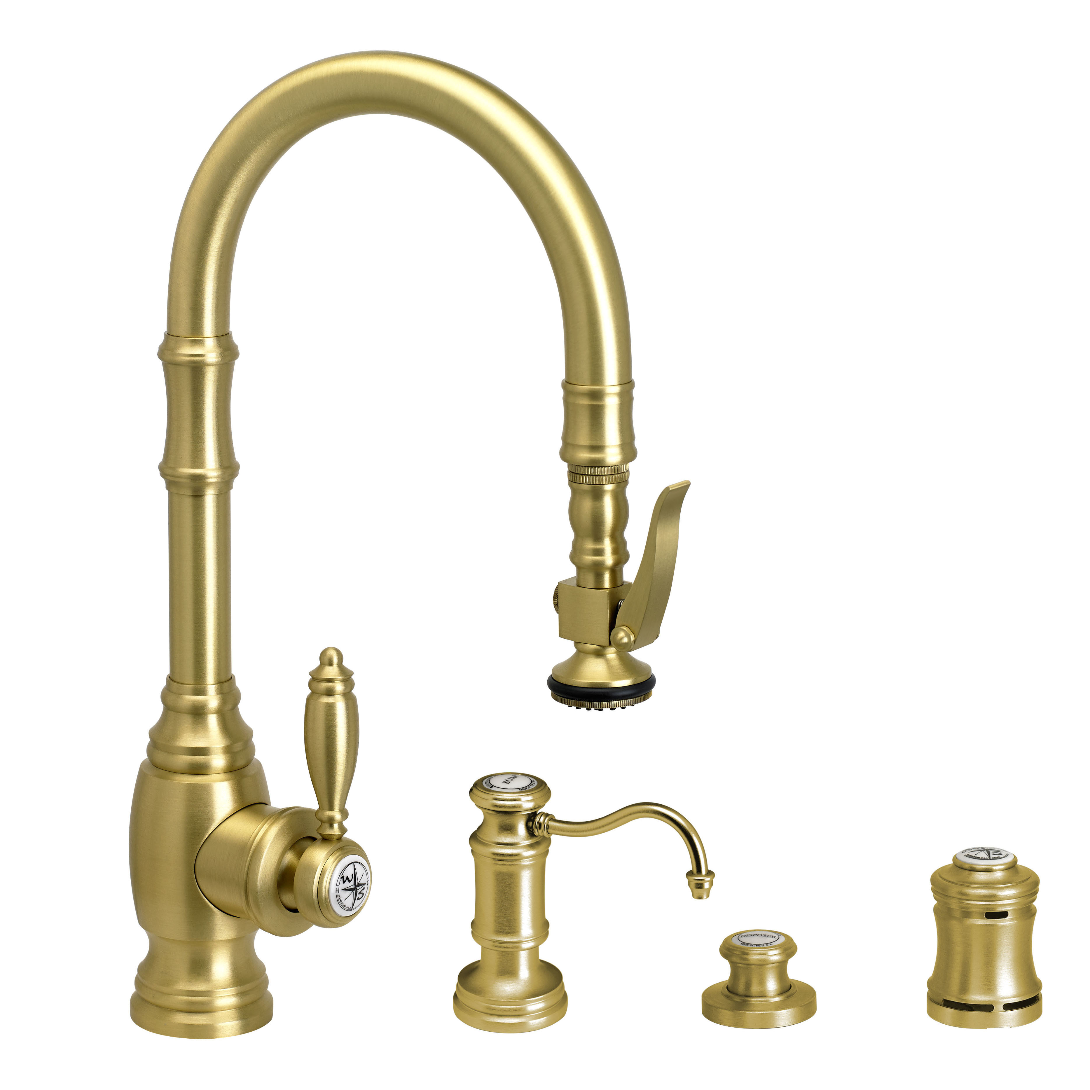 Waterstone 5200-4 PLP Kitchen Faucet with Soap Dispenser, Air Switch and  Single Port Air Gap