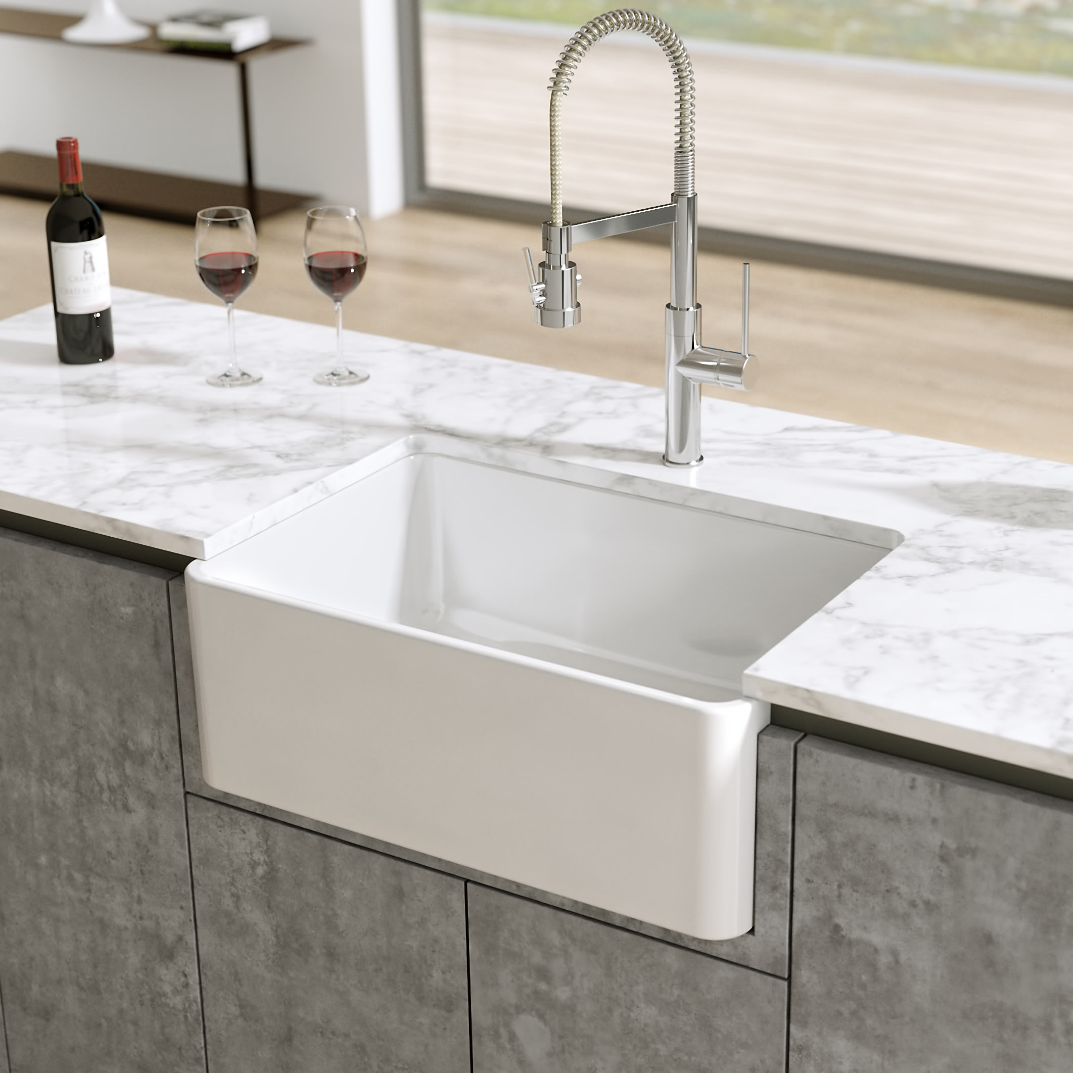amazing marble countertop sink design and modern faucet.htm latoscana ltw2718w 27  reversible fireclay farmhouse sink  reversible fireclay farmhouse sink