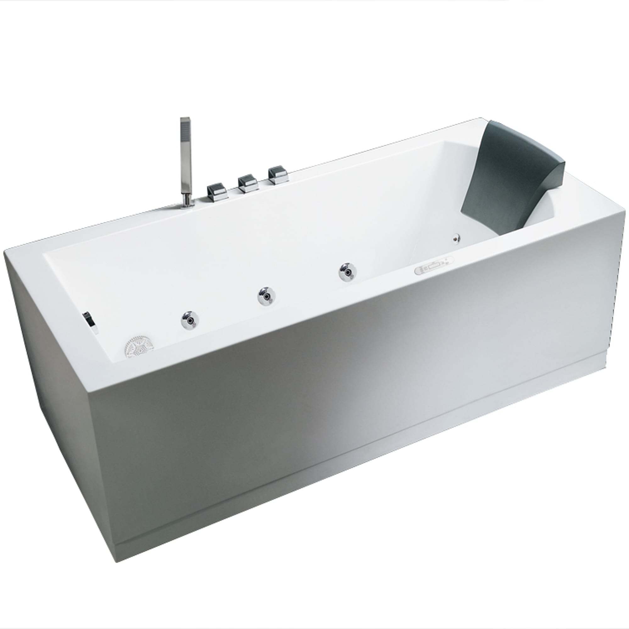 corner display white tub person whirlpool floor content computerized luxury black or bathtub
