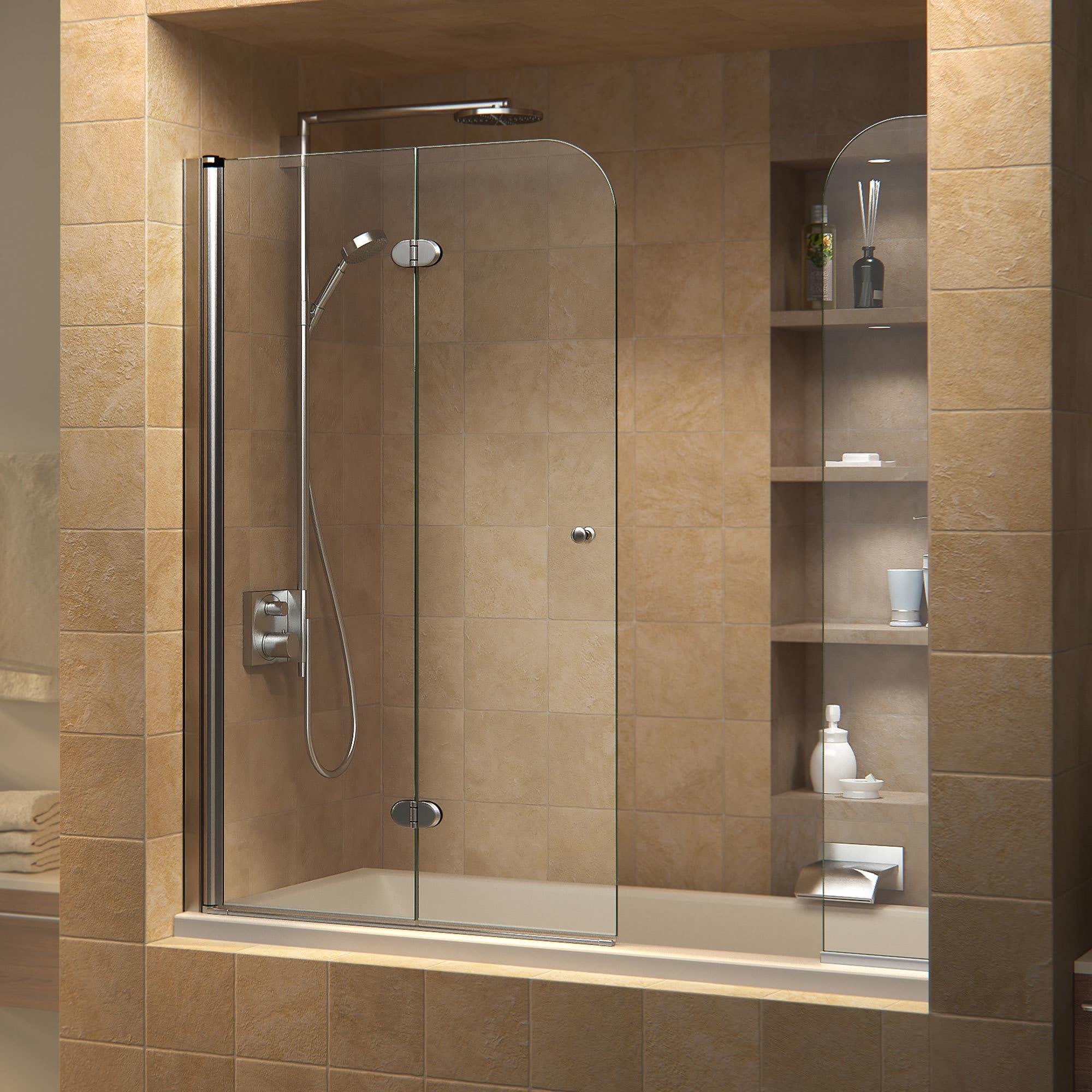 Dreamline Shdr 3636580 Ex 01 Aqua Fold 36 Tub Door With Extender Panel