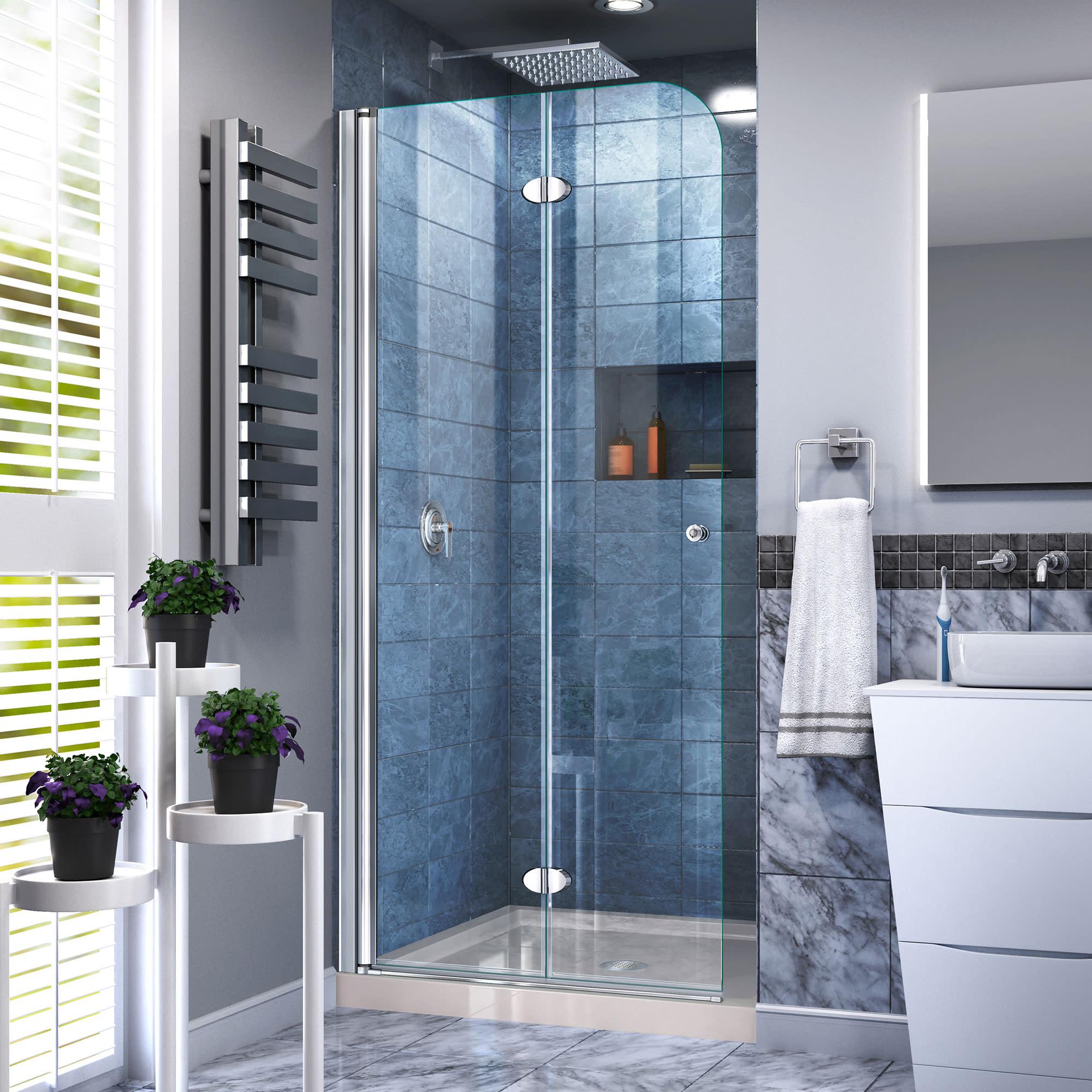 Dreamline Dl 6528c 22 01 Aqua Fold Shower Door And Base