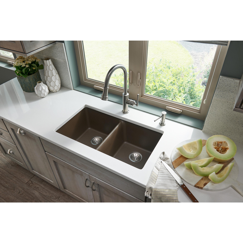 amazing marble countertop sink design and modern faucet.htm elkay elgu3322 quartz classic 33  kitchen sink qualitybath com  elkay elgu3322 quartz classic 33
