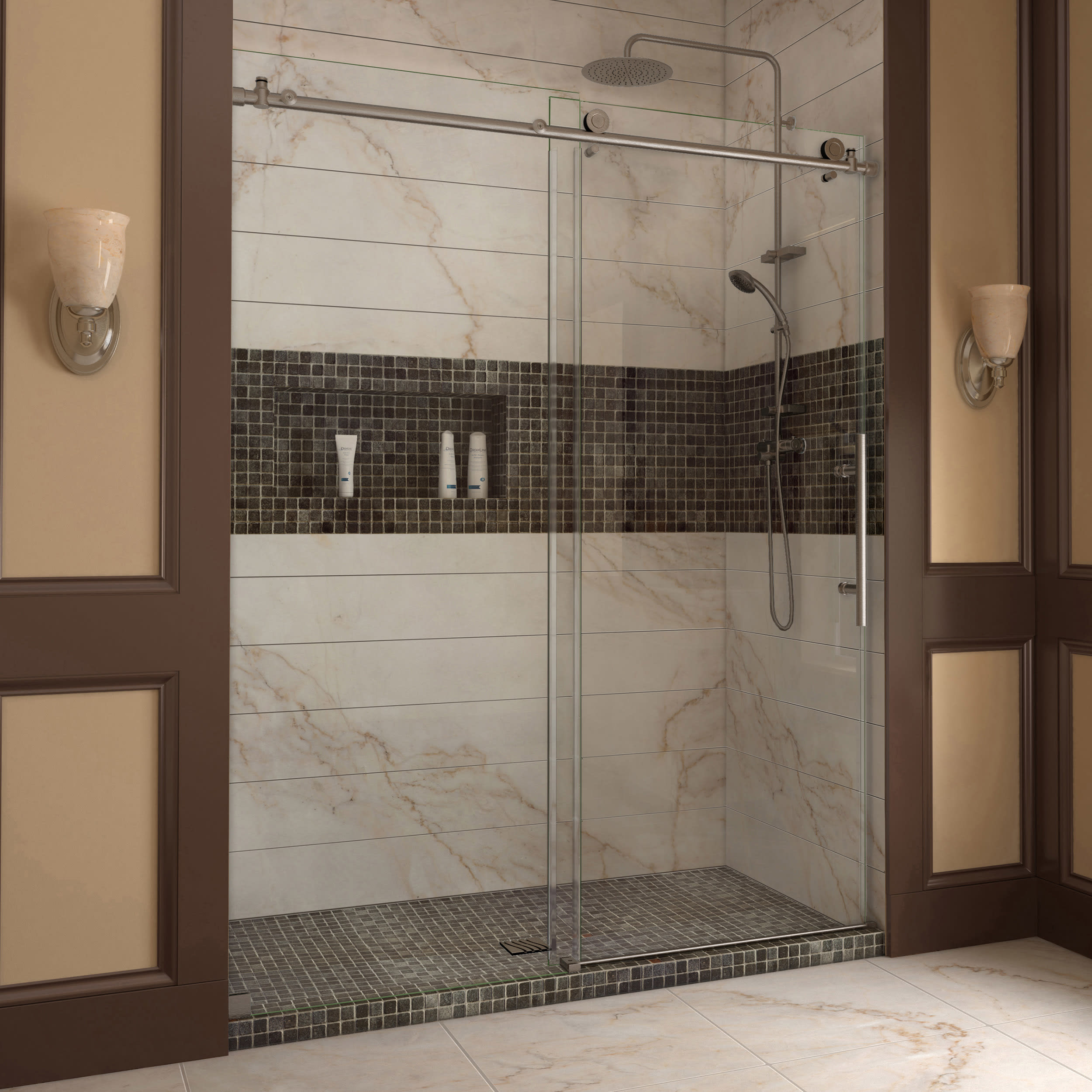 gallery door enclosure doors large shower alternative store the