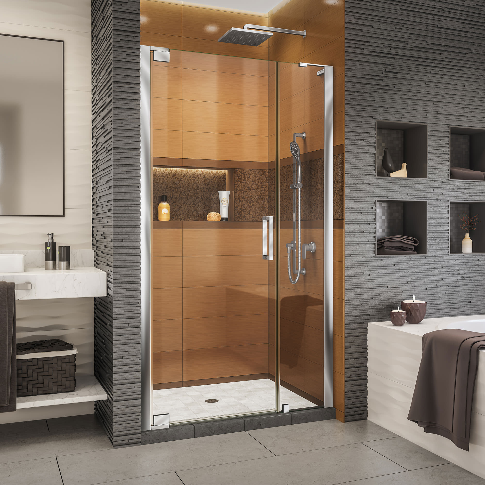 Dreamline SHDR-4335120 Elegance-ls Shower Door | QualityBath.com