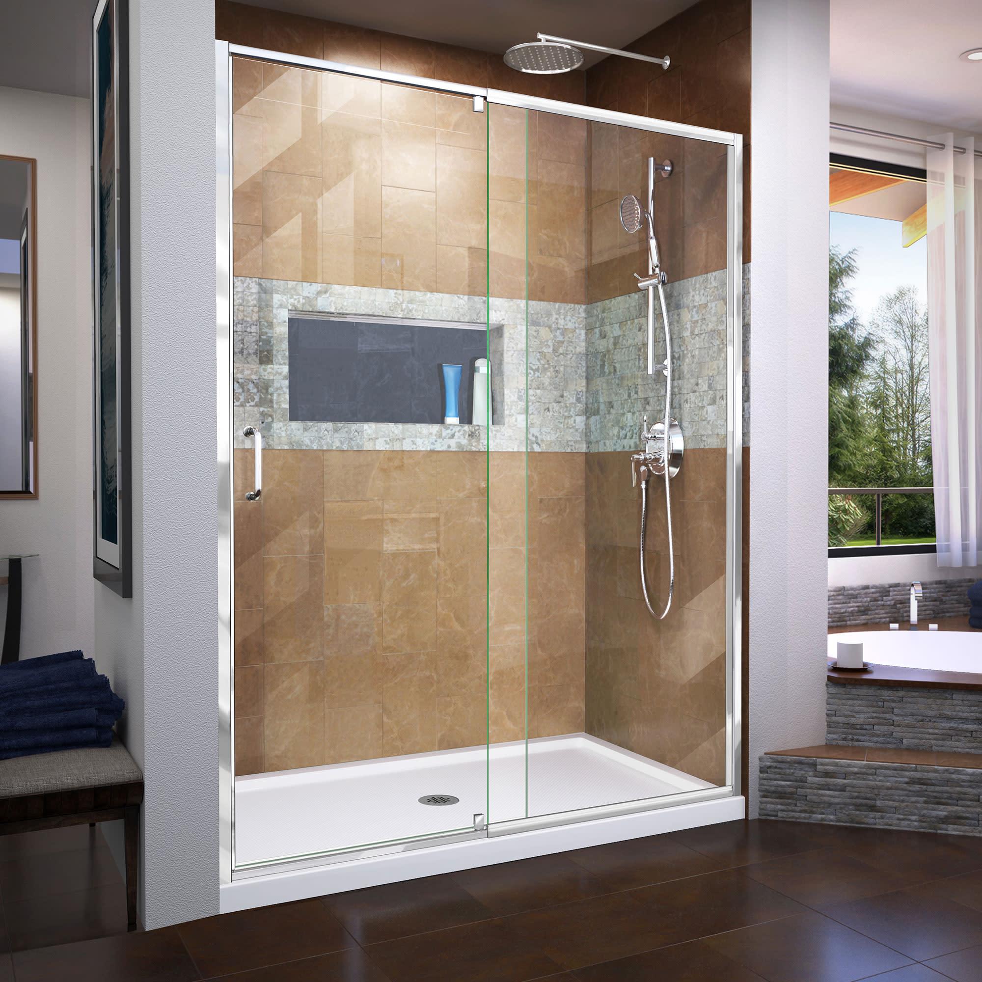 Dreamline Dl 6223 Flex Shower Door And Base Qualitybath