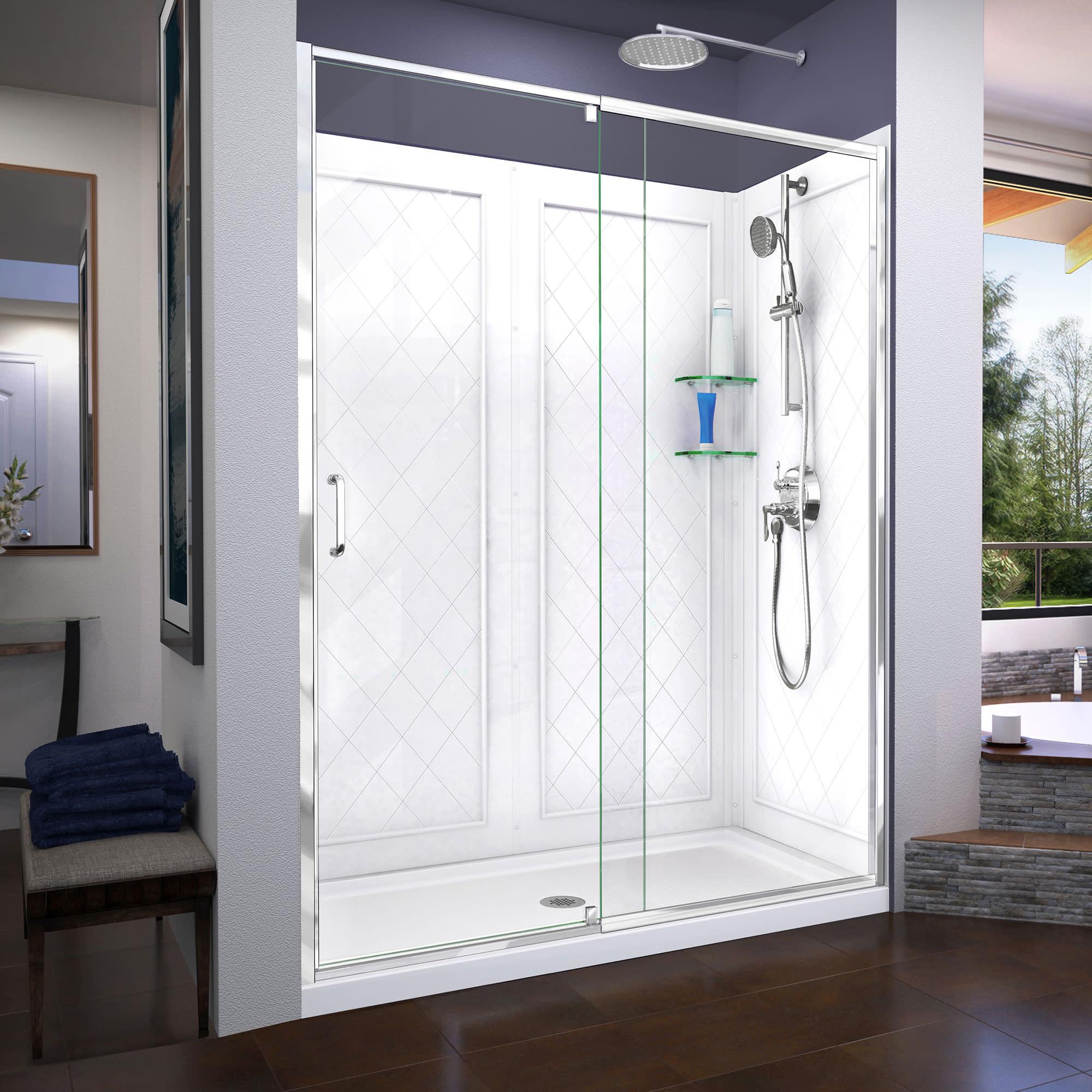 Dreamline Dl 6230 Flex Shower Door Base And Backwalls