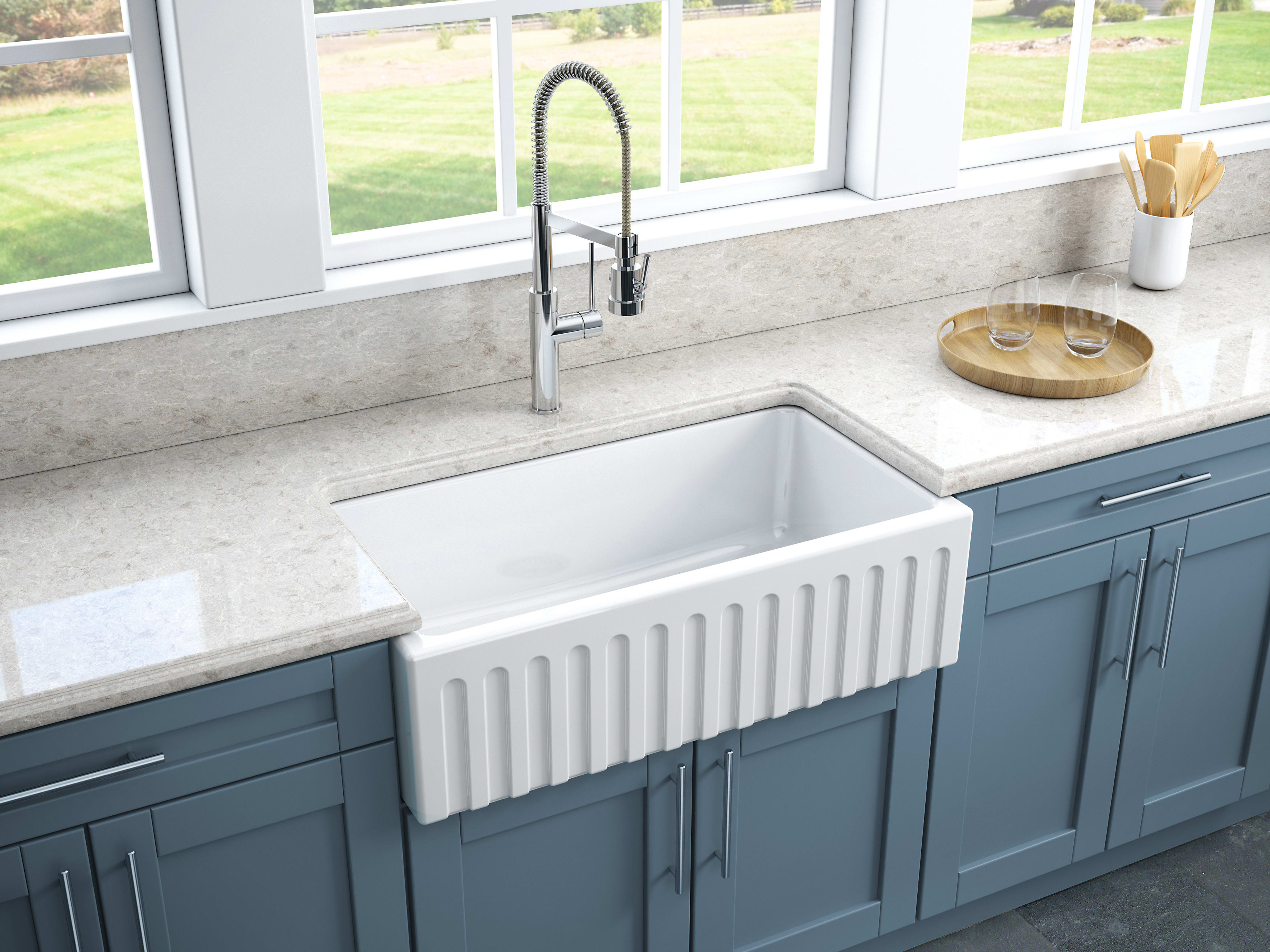 amazing marble countertop sink design and modern faucet.htm latoscana lfs3318 33  reversible fireclay farmhouse sink  reversible fireclay farmhouse sink